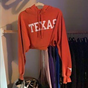 texas oversized crop hoodie